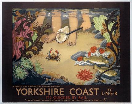 'Yorkshire Coast', LNER poster, 1933.