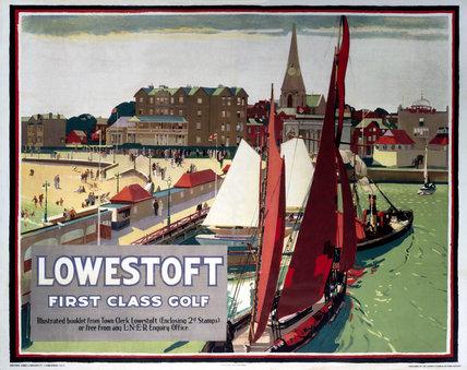 'Lowestoft - First Clas Golf', LNER poster, 1923-1947.