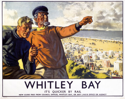 'Whitley Bay', LNER poster, 1923-1947.