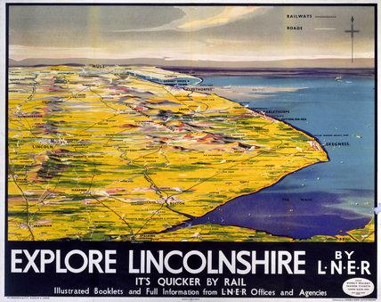 'Explore Lincolnshire', LNER poster, 1936.