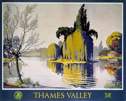 'Thames Valley', GWR/SR poster, 1946.