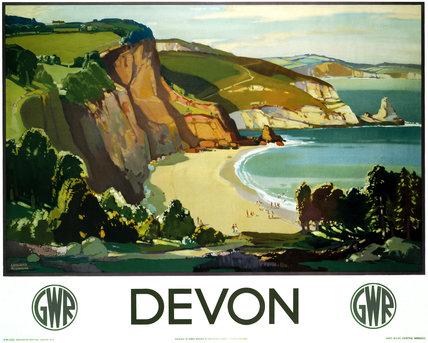 'Devon', GWR poster, 1937.