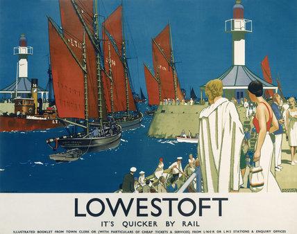 'Lowestoft', LNER/LMS poster, 1930.