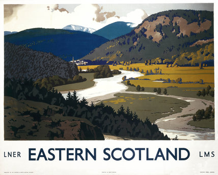 'Eastern Scotland: Royal Deeside', LNER/LMS poster, 1935.