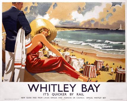 'Whitley Bay', LNER poster, 1939.