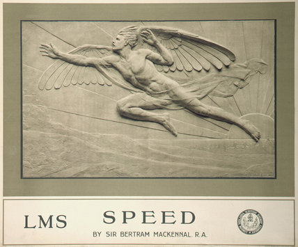'Speed', LMS poster, 1924.
