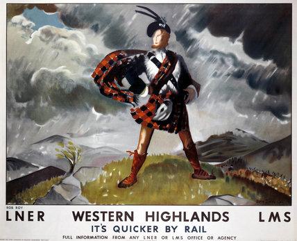 'Western Highlands', LNER/LMS poster, 1934.