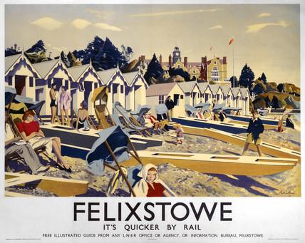 Felixstowe, LNER poster, 1923-1947.