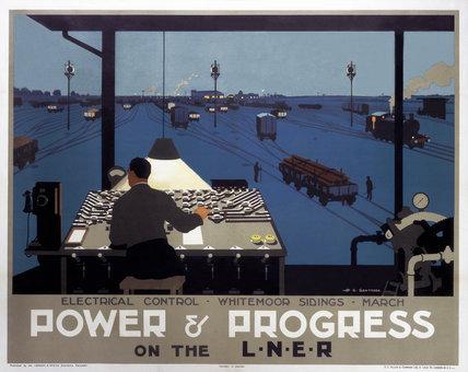 'Power & Progress on the LNER', LNER poster, 1930.