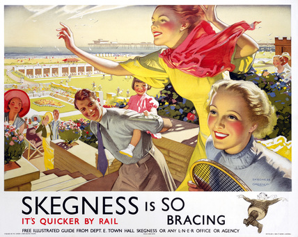 'Skegness is So Bracing', LNER poster, 1923-1947.