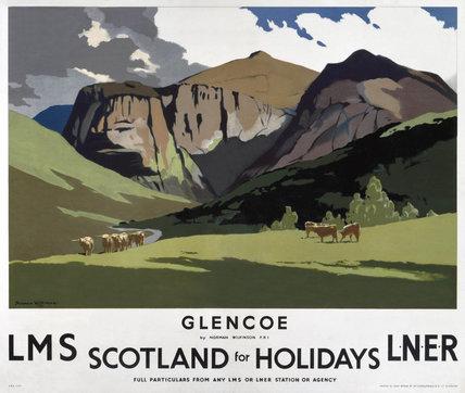 'Glencoe', LMS/LNER poster, 1923-1947.
