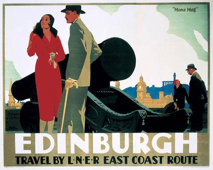 'Edinburgh: Mons Meg', LNER poster, c 1935.