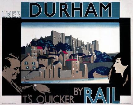 'Durham', LNER poster, 1935.