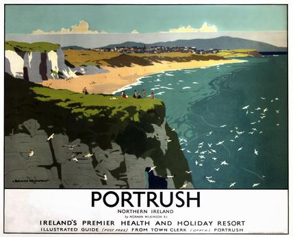 'Portrush - Northern Ireland', LMS poster, 1923-1947.