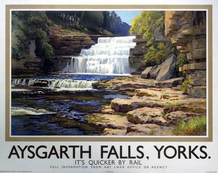 'Aysgarth Falls',  LNER poster, 1923-1947.