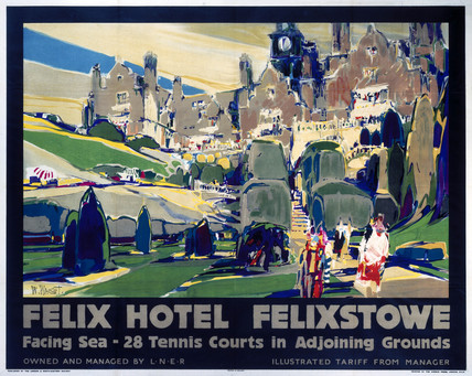 'Felix Hotel - Felixstowe', LNER poster, 1923-1947.
