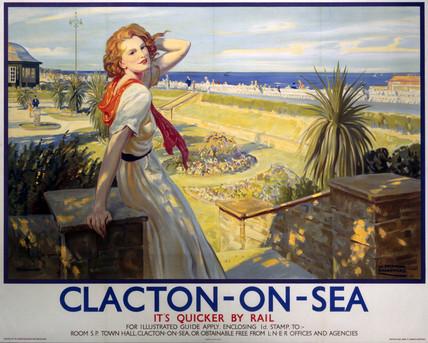'Clacton-on-Sea', LNER poster, 1923-1947.