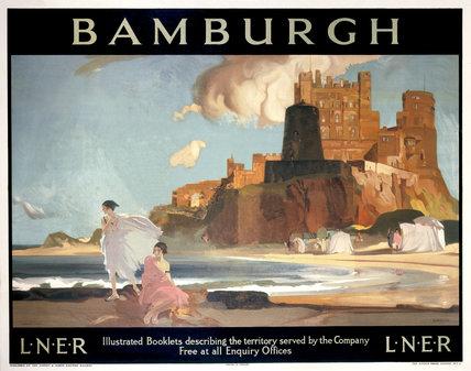 'Bamburgh', LNER poster, 1925.
