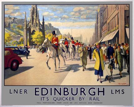 'Edinburgh', LNER poster, 1923-1947.