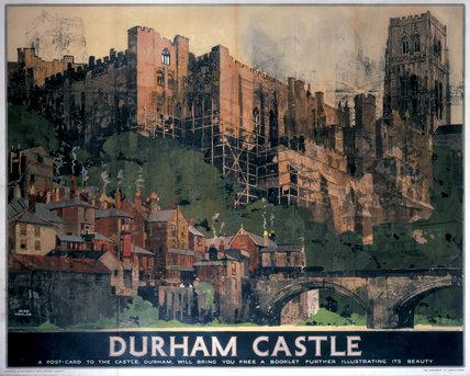 'Durham Castle', LNER poster, 1923-1947