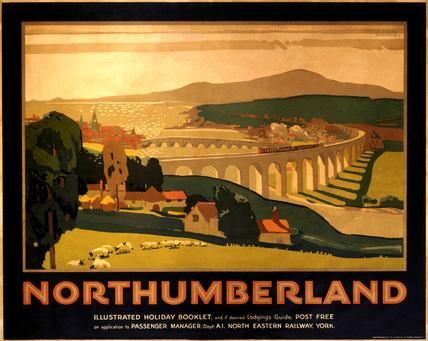 'Northumberland', NER poster, c 1920s.
