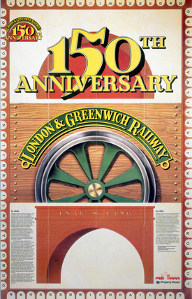 London & Greenwich Railway - 150th Anniversary poster, 1986.