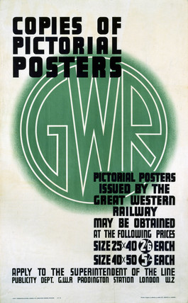 'Copies of Pictorial Posters', GWR poster, 1923-1947.