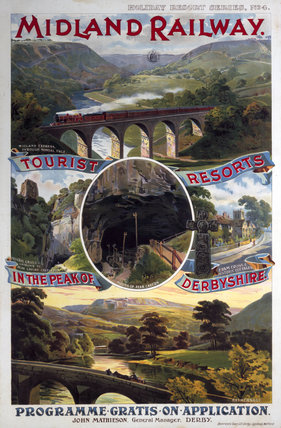 'Tourist Resorts in the Peak of Derbyshire', MR poster, 1923-1947.
