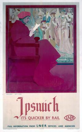Ipswich, Suffolk, LNER poster, c 1930s.