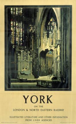 'York', LNER poster, 1931.