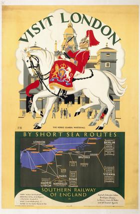 Visit London, SR poster, 1927.