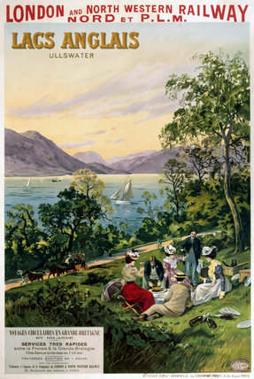 'English Lakes', LNWR poster, c 1910.