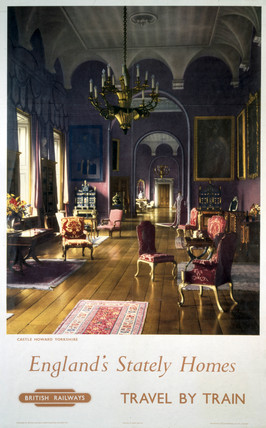 'England's Stately Homes', BR (NER) poster, 1957.
