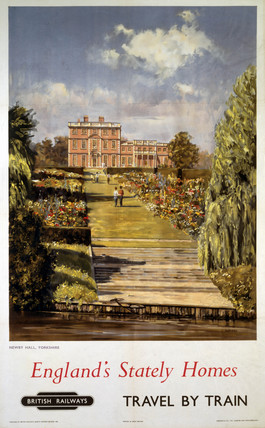 'England's Stately Homes', BR (NER) poster, 1956.