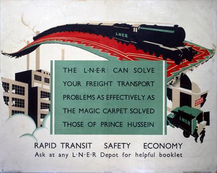 'Rapid Transit, Safety, Economy', LNER poster, 1923-1947.