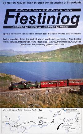 'Ffestiniog Railway', FR poster c 1980s.