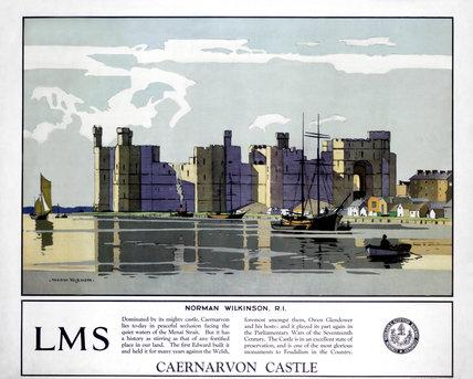 'Caernarvon Castle', LMS poster, 1929.