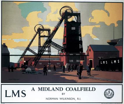 'A Midland Coalfield', LMS poster, c 1935.