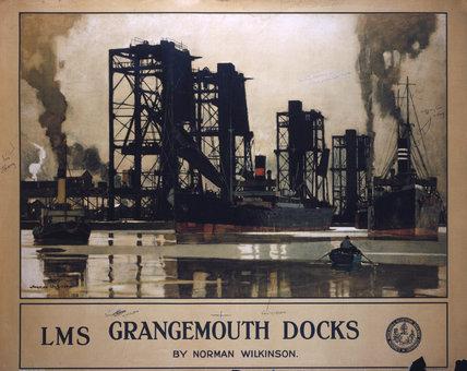 'Grangemouth Docks', LMS poster, 1923-1947.