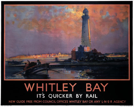 'Whitley Bay', LNER poster, 1933.
