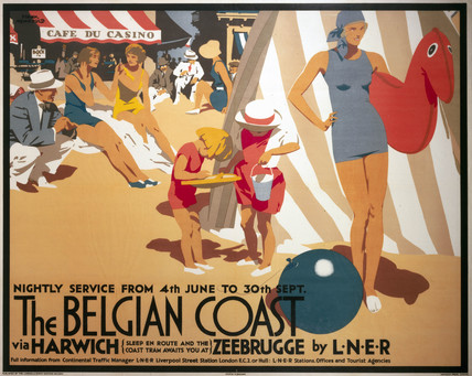 'The Belgian Coast', LNER poster, 1930.