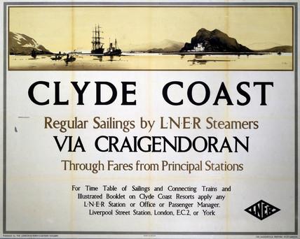 'Clyde Coast via Craigendoran', LNER poster, 1935.