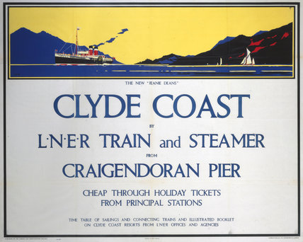 'Clyde Coast', LNER poster, 1935.