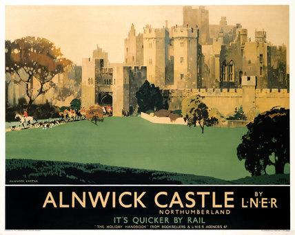 'Alnwick Castle', LNER poster, 1933.