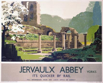 'Jervaulx Abbey', LNER poster, 1933.