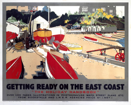 Getting Ready on the East Coast', LNER poster, 1923-1947.