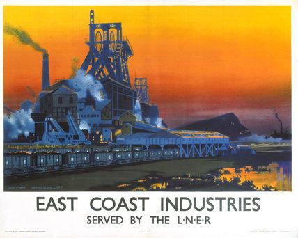 'East Coast Industries', LNER poster, 1938.