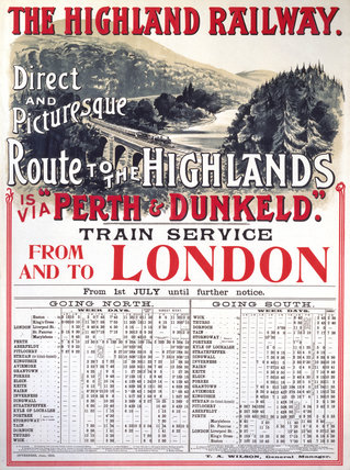 'The Highland Railway', Highland Railway, 1905.