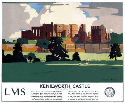'Kenilworth Castle', LMS poster, 1929.