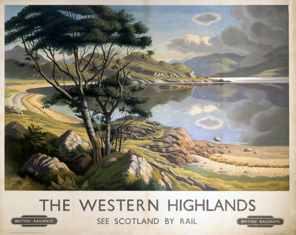 'Western Highlands', BR poster, 1950.